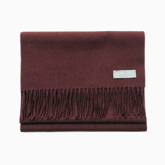 Joshua Ellis_ burgundy_ 100% cashmere_made in England
